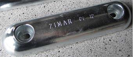 Picture of CL-12 Zimar Bolt On Drilled Plate Zinc Anode