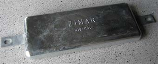 Picture of RIV-440 Zimar Bolt On Drilled Plate Zinc Anode