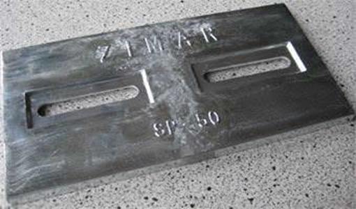 Picture of SP-50 Divers Plate Zimar Bolt On Drilled Plate Zinc Anode