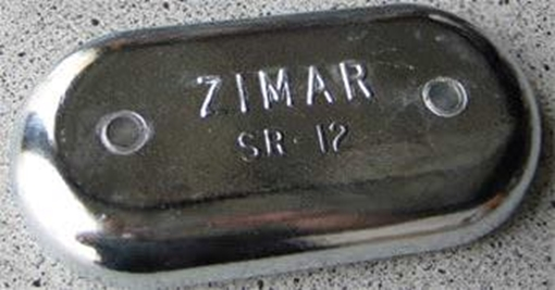 Picture of SR-12 Zimar Bolt On Drilled Plate Zinc Anode