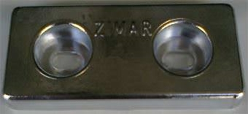 Picture of TA-3 Zimar Bolt On Drilled Plate Zinc Anode