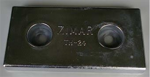 Picture of TH-24 Zimar Bolt On Drilled Plate Zinc Anode
