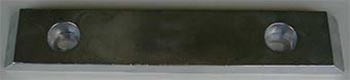 Picture of UM-10 Zimar Bolt On Drilled Plate Zinc Anode