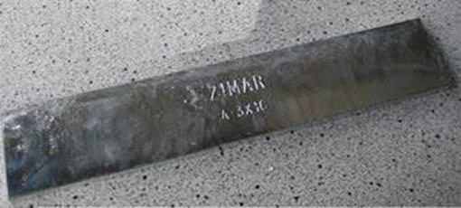 Picture of A-1-1/2X12 Zimar Bolt On Undrilled Plate Zinc Anode