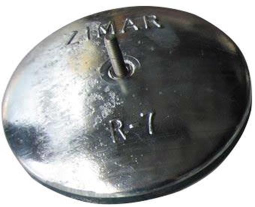"Picture of R-7 6-1/2"" Zimar Rudder Zinc Anode"