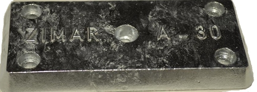 Picture of A-30 Zimar Bolt On Drilled Plate Zinc Anode