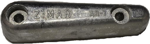 Picture of AR-6 Zimar Bolt On Drilled Plate Zinc Anode
